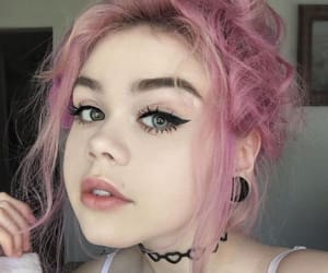 colored hair, colorful hair, and girl image