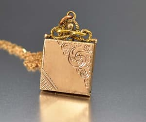 charm, engraved, and rose image