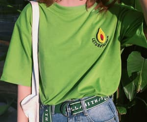 green, avocado, and outfit image