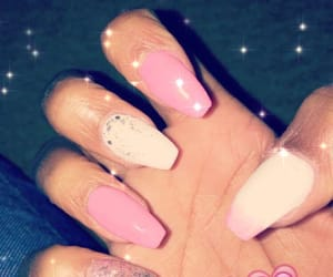 acrylic, lightpink, and nails image