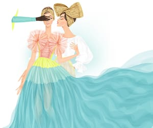 art, fashion sketch, and paper art image