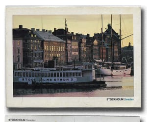 postcard, stockholm, and used image