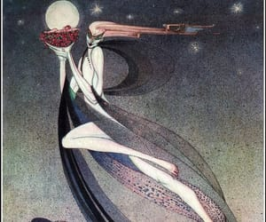 1910s, kay nielsen, and in powder and crinoline image