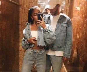 couple, denim, and goals image
