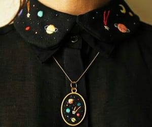 necklace, planet, and space image