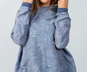 dark blue, hooded, and distressed image