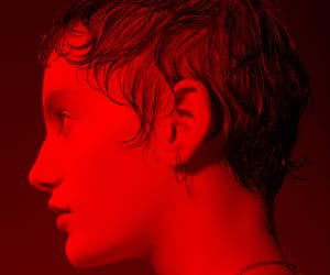 aesthetic, glow, and red image