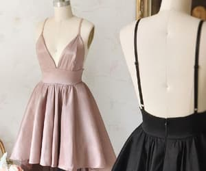 cheap prom dresses, v neck party dress, and simple party dress image