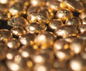 beautiful, gold, and pebbles image