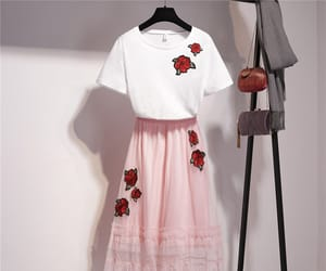 flower, outfit, and pink image