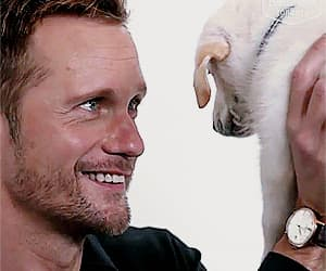 actor, alexander skarsgard, and funny face image