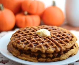 pumpkin, fall, and waffles image