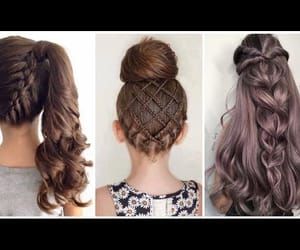 braid, hairstyle, and hairstyles image