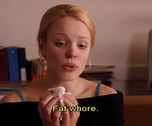 mean girls, quotes, and fat image