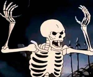 gif, skeleton, and skull image