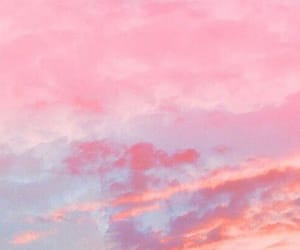 pink, blue, and clouds image