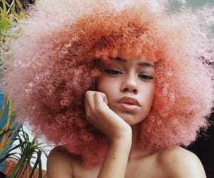 hair, pink, and Afro image
