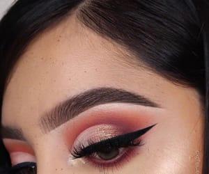 eyeliner, eyeshadow, and fall image