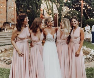 girl, bridesmaid, and couple image