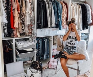 fashion, girl, and closet image