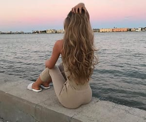 beuty, vacation, and blond girl image