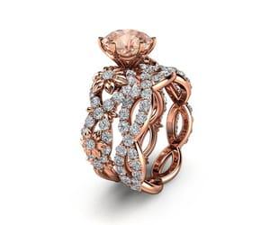 etsy, gemstone, and rose gold ring image