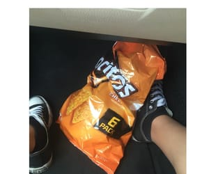 chips, converse, and food image