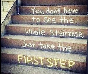 quote, staircase, and step image