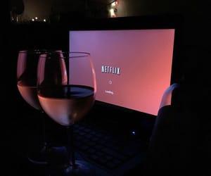 netflix, pink, and wine image
