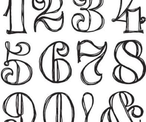 font, fonts, and numbers image