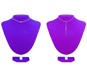 mannequin, purple, and cross necklace image