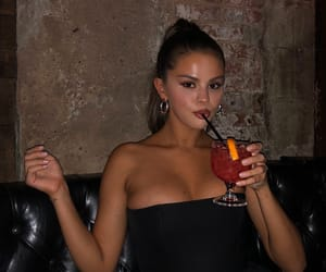 actress, beautiful, and drinks image