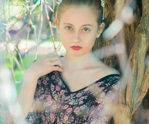 actress, flowers, and nature image