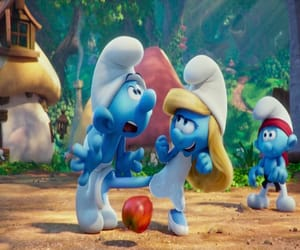 blue, smurfs, and movie image