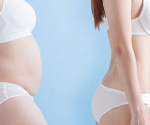 losing belly fat image