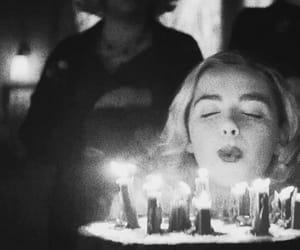black and white, Halloween, and happy birthday image