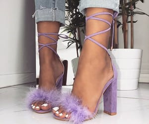 fashion, purple shoes, and heels style image