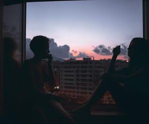 grunge, sky, and sunset image