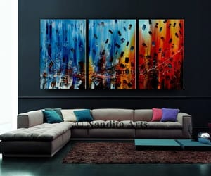 abstract art, etsy, and home decor image