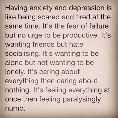 anxiety and depression it sucks on we heart it