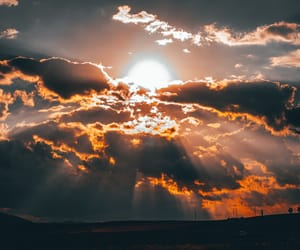 beautiful, black, and clouds image