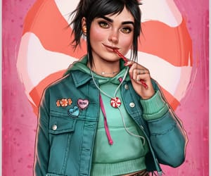 disney modern, wreck-it ralph, and vanellope image