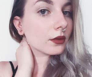 alternative, lipstick, and piercing image