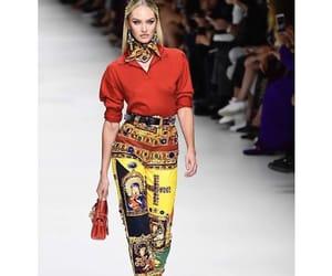 runway, Versace, and fashionweek image