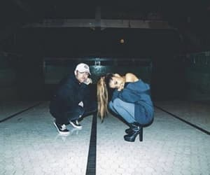 couple, ariana grande, and mac miller image