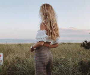 blond, girl, and nature image