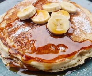banana, delicious, and pancakes image