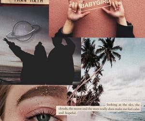 Collage, eye, and ocean image
