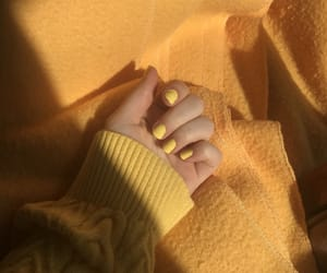 yellow, nails, and aesthetic image