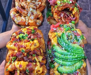 avocado, bacon, and cheese image